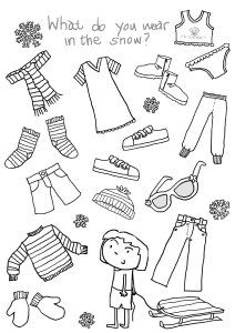 16 Best Images of Clothing Printable Worksheets For Preschoolers - Clothes Free Printable Kindergarten Worksheets, Clothes Matching Worksheets and Spanish Clothes Worksheet Educational Activities For Preschoolers, Snow Activities, Vocabulary Activities, Preschool Themes, Kindergarten Worksheets, Worksheets For Kids, English Activities For Kids, Math Literacy, Printable Worksheets