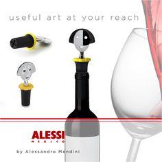 """Anna Stop 2"""" Tapón para botella de vino inspirado en Anna G, diseñado por Alessandro Mendini."""