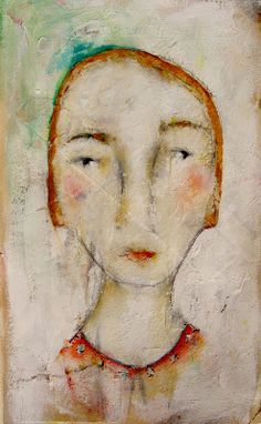 by Lynne Hoppe Abstract Portrait, Portrait Art, Abstract Art, Happy Paintings, Mixed Media Art, Mix Media, Face Art, Figurative Art, Collage Art