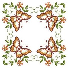 Butterfly Fancy Block 9 - 3 Sizes! | What's New | Machine Embroidery Designs | SWAKembroidery.com Ace Points Embroidery