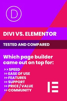 Is Elementor better than Divi? I ran some tests to put the rumors to rest & bring you an unbiased comparison of the pros, cons, strengths & weaknesses of each of these popular website visual builder tools so you can decide which is right for you. Business Design, Business Tips, Online Business, Best Wordpress Page Builder, Content Marketing, Online Marketing, Website Themes, Build Your Brand, Brand Guidelines