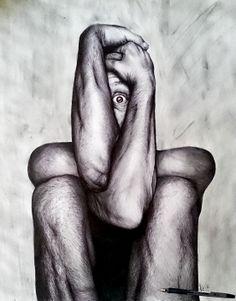 """MADNESS"" (pen draw) By Luke Drawings"