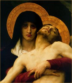 A Mother's Grief at the Stations of the Cross 7 Sorrows Of Mary, Our Lady Of Sorrows, Light Of Christ, William Adolphe Bouguereau, Mama Mary, Angel Aesthetic, The Cross Of Christ, St Therese, Mary And Jesus
