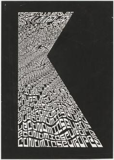 Jurriaan Schrofer - Sketch for European Journal of Agricultural Economics, 1973