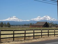 The 3 Sisters Mountains in Oregon.
