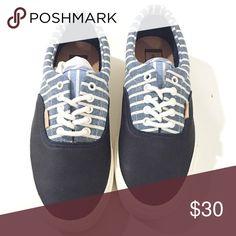 Vans Era California Stripes Dress Shoes. Navy blue vans. Half leather. NEW  vans 697c01f53