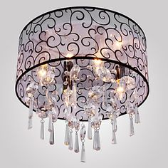 Elegant Crystal Chandelier with 4 Lights - USD $ 119.99