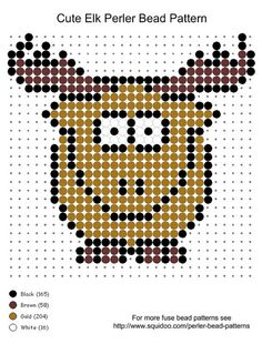 Cute elk perler bead pattern.. For more patterns, see www.squidoo.com/perler-bead-patterns