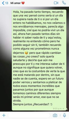 ti I guess you're going to be at four zero three today and probably you have some ideas about what to do about your brother Mi right now ? Sad Love Quotes, Life Quotes, Relationship Goals Tumblr, Ex Amor, Quotes En Espanol, Love Phrases, Spanish Quotes, Love Messages, Sentences