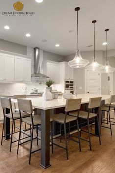 We love huge, open kitchens with plenty of seating. They are perfect for having over during the season! Open Kitchens, Custom Kitchens, Crisp Kitchen, Kitchen Island Decor, Elk Grove, New Home Construction, Interior Decorating, Interior Design, Home Trends