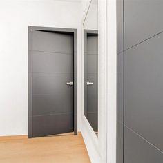 Cheap Home Decorating Ideas - Binnendeuren Dark Interior Doors, Contemporary Interior Doors, Interior Door Styles, Gray Interior, Interior Modern, Interior Design, Doors And Floors, The Doors, Windows And Doors