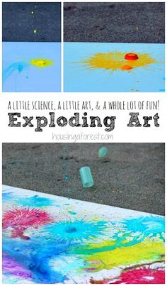 Exploding Art ~ A little Science, a little art & a whole lot of fun!  Paint Alka Seltzer Rockets