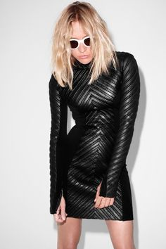 Black leather dress #Inspiration #BiographyTrend #SpringNight #BiographyCollection #Biography