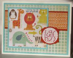Hugs card, OWH sketch #30, My Mind's Eye Alphabet Soup Boy paper