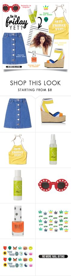 """""""Fun FR!DAY"""" by grrr8style ❤ liked on Polyvore featuring Miss Selfridge, Pierre Hardy, Forum, Hollister Co., DevaCurl, Linda Farrow, Topshop, Trixxie, friday and Halter"""