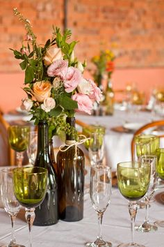 7 wine bottle centerpieces to DIY for your wedding! | dream wedding ...