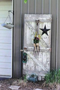 Sherri Calvert's 'barn' door adds some zip to her utility area