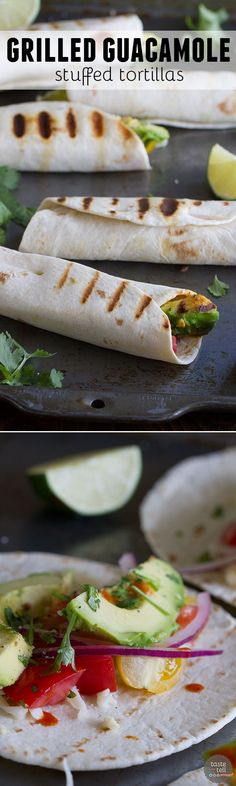 ... twist on guacamole - this Grilled Guacamole Stuffed Tortilla Recipe