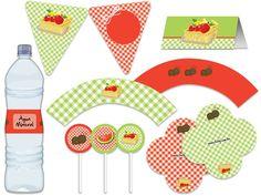 Festa Pic Nic V - aniverários - chá de bebê - vermelho, branco, verde Tuty - Arte & Mimos www.tuty.com.br