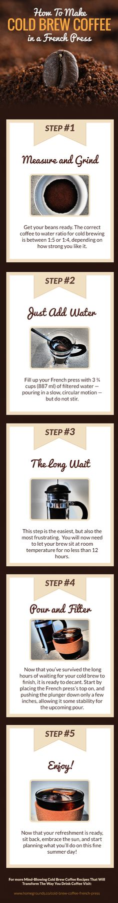 How to Make Cold Brew Coffee in a French Press.