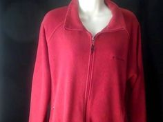 COLUMBIA Sportswear Womens XL Red Fleece Sweatshirt #COLUMBIA #Sweatshirt