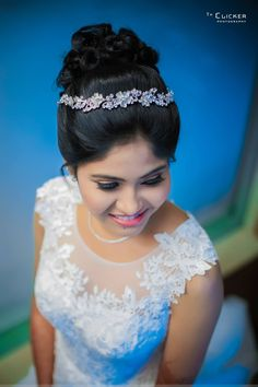 Populer Christian Wedding Hairstyle For Gown 87 Images Pin by Minz on kerala Christian wedding and function Hairstyles For Gowns, Virtual Hairstyles, Haircuts For Curly Hair, Bride Hairstyles, Updo Hairstyle, Christian Wedding Dress, Christian Bride, Christian Weddings, Bridal Wedding Dresses