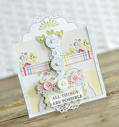 Handmade Vintage Shabby Chic Greeting Card All by ivanascreations