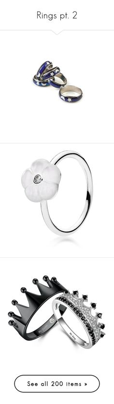 """""""Rings pt. 2"""" by amarie104 ❤ liked on Polyvore featuring jewelry, rings, accessories, fillers, anello ring, anello, glitter jewelry, glitter ring, silver and sterling silver mother of pearl ring"""