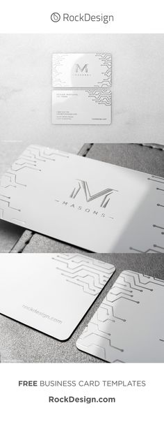 If modern, and professional describe you, then this business card is for you! Our laser engraved white metal business cards are crafted from a stylish yet luxurious stock that has a clean finish certain to complement your branding. Laser engraving on this stock creates a silver finish that contrasts the glossy white of this 0.5mm thick anodized stock. Get your business card today at www.RockDesign.com and our professional designers will take care of the rest. Business Pens, Business Cards Online, Metal Business Cards, Business Card Case, Custom Business Cards, Business Card Design, Best Photoshop Actions, Free Business Card Templates, Showcase Design