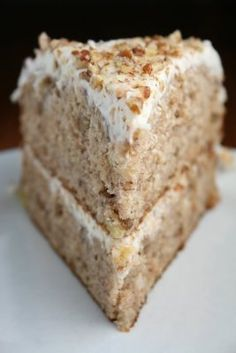 Hummingbird Cake >> <3 this recipe!  Instead of making a cake, I made cupcakes (baked for 15 minutes instead of the 25-30) and used a store-bought whipped cream cheese frosting. To the frosting I added a little bit of honey and some juice from a small jar of marichino cherries. SO good!