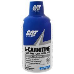 GAT, L-Carnitine, Liquid Free Form Amino Acid, Blue Raspberry, 16 oz (473 ml)