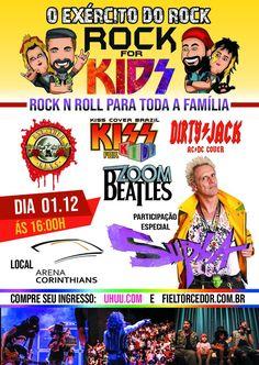 O FuteRock vai sortear no Instagram FuteRock ( blog futerock) 2 pares de  ingressos para o Rock For Kids ca95ebf259bf2