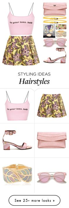 """""""Pastels and slogans"""" by juuliap on Polyvore featuring RED Valentino, Casetify, blockheels, slogantshirts, yoins, yoinscollection and loveyoins"""