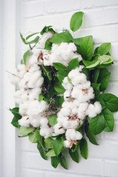 Cotton Wreath by Cricket Newman Designs