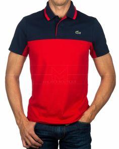 Polos Lacoste Sport - Azul Marino   Rojo Camisetas Polo Hombre 2fe7a3c3b5a7f