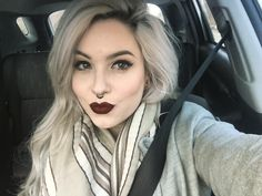 #TheBeautyBoard Lip of the Day: Vampy Lip, Winged Liner by natalee06. Upload your look to gallery.sephora.com for the chance to be featured! #Sephora