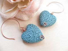 Texture Hearts Earrings - Valentine - Copper