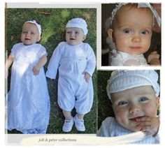 The Joli White Christening Gown ★ Peter Cotton Jumpsuit