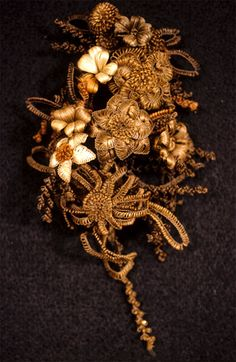 Victorian hair flowers. So revolting, so amazing. There are a bajillion examples on the internet and I highly recommend doing some searches.
