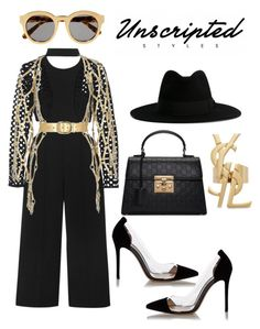 """""""Untitled #49"""" by unscriptedstyles on Polyvore featuring self-portrait, Gianvito Rossi, STELLA McCARTNEY, Gucci, Yves Saint Laurent and Zana Bayne"""