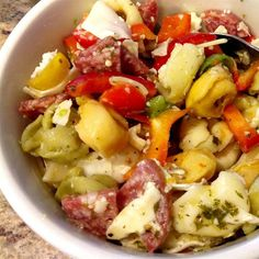 Antipasto Pasta Salad | Imagine all your favorite Italian appetizers dished up in one pasta salad.