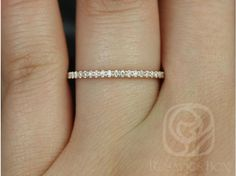 Rosados Box 14kt Rose Gold Matching Band to ALL Federella/Darcy Diamonds HALFWAY Eternity Band