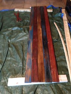 Sand Down Wood And Add Layers Of Paint And Stain For A Unique And Modern  Wood