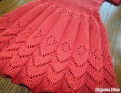 Kids Knitting Patterns, Baby Cardigan Knitting Pattern, Knitting Blogs, Baby Hats Knitting, Knitting Stitches, Crochet Edging Tutorial, Knit Baby Dress, Baby Skirt, Knit Baby Sweaters