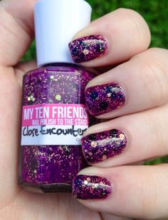 Close Encounters Space-Themed Glittery Nail Polish – My Ten Friends - Official Site - Nail Polish To The Stars! $10