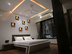 Bedroom Bed Design, Bedroom Furniture Design, Modern Bedroom Design, Bedroom Ideas, Bedroom Interiors, False Ceiling Design, House Design, Interior Design, Bed Room