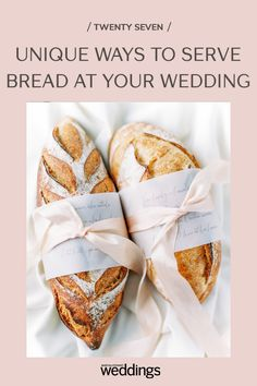 Bread makes for a great wedding appetizer as well as table decor. Your guests will appreciate the pre-dinner snack as well as the unique edible decoration appeal! Summer Wedding Guests, Wedding Reception Food, Summer Weddings, Festive Bread, Wedding Appetizers, Food Stations, Cake Photography, Herb Butter, Dinner Rolls