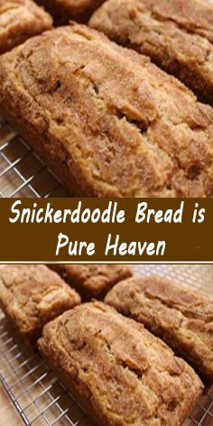 Snickerdoodle Bread is Pure Heaven  Dessert recipes Ingredìents 2-½ cups of flour. 2 tsps of bakìng powder. ½ tsp of salt. 2 tsps of cìnnamon. 1 cup of softened butter. 2 cups of sugar. 3 eggs. 1 tsp of vanìlla. Cinnamon Recipes, Bread Recipes, Baking Recipes, Cinnamon Bread, Moist Pumpkin Bread, Köstliche Desserts, Dessert Recipes, Homemade Desserts, Homemade Breads