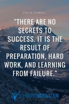 Success is about preparation, putting in the hard work, and of course, learning from failure. As simple as that.