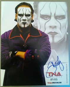 Sting Signed Official TNA 8x10 via iamrjsdad. Click on the image to see more!